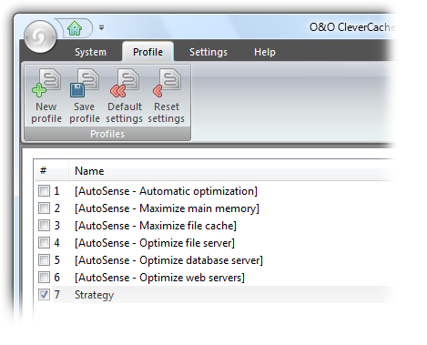O&O CleverCache Screenshot
