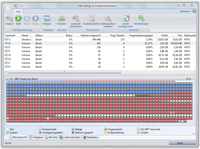 Click to view O&O Defrag 14  Professional Edition 14.5 screenshot