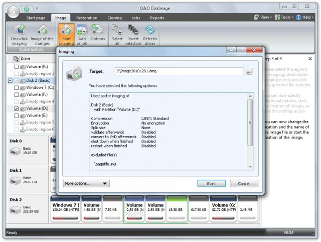 Click to view O&O DiskImage Server Edition screenshots