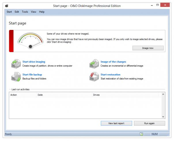 O&O DiskImage Professional x64 full screenshot