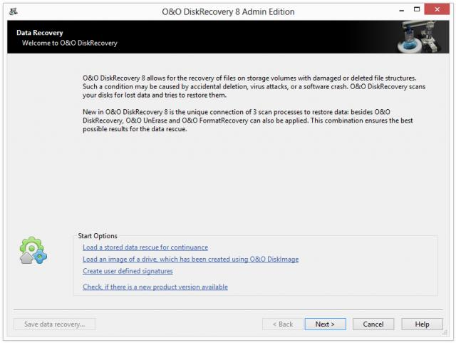 O&O DiskRecovery Admin Edition x64 screenshot