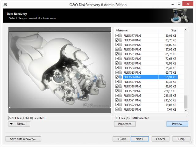 Click to view O&O DiskRecovery Professional Edition screenshots