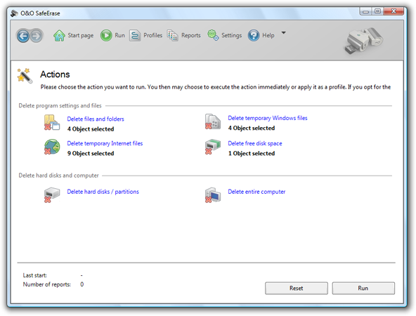 It securely deletes all sensitive files and internet traces from the Hard Disk
