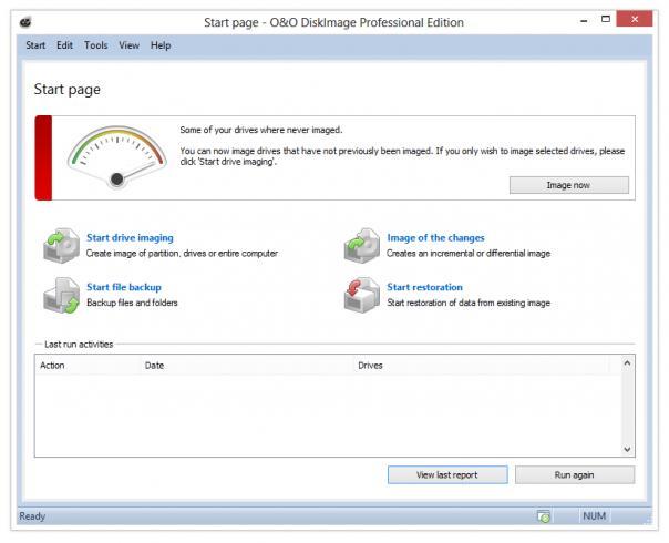 O&O DiskImage Server Edition x64 screenshot