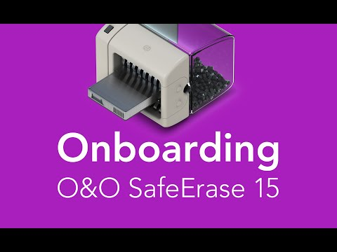 Getting started with O&O SafeErase 15