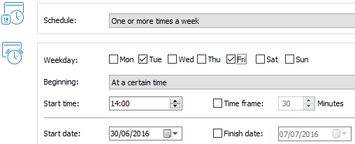 Schedule backups – set and forget