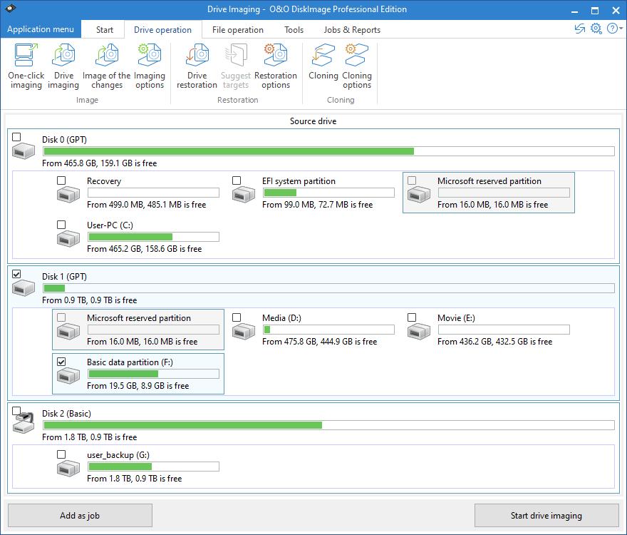 O&O DiskImage Professional x64 screenshot