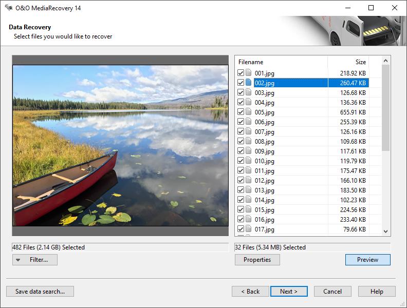 O&O MediaRecovery 64-bit screenshot