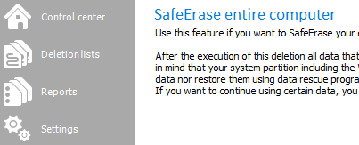 Delete entire computer data safely